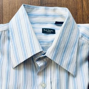 Paul Smith Handcrafted White & Blue Dress Shirt